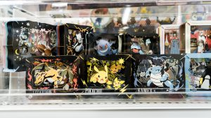 Pokemon card in showcase In Akihabara