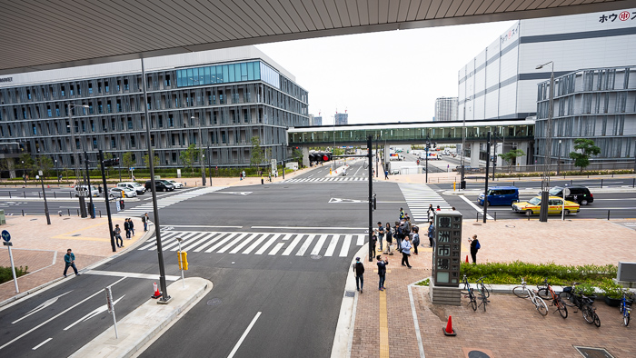 Toyosu fish market buildings