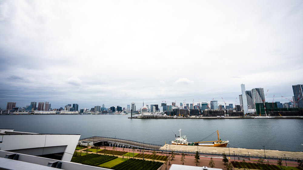 Panorama view Of Rinkai Area In Toyosu Fish Market