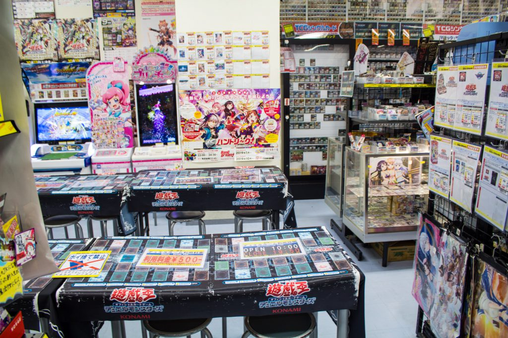 Trading card playing space in Akihabara