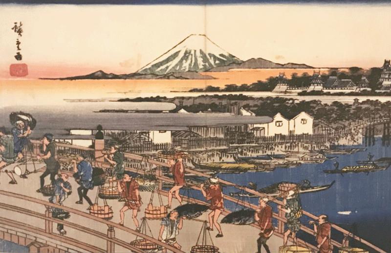 History of Toyosu Fish Market: Edo Era