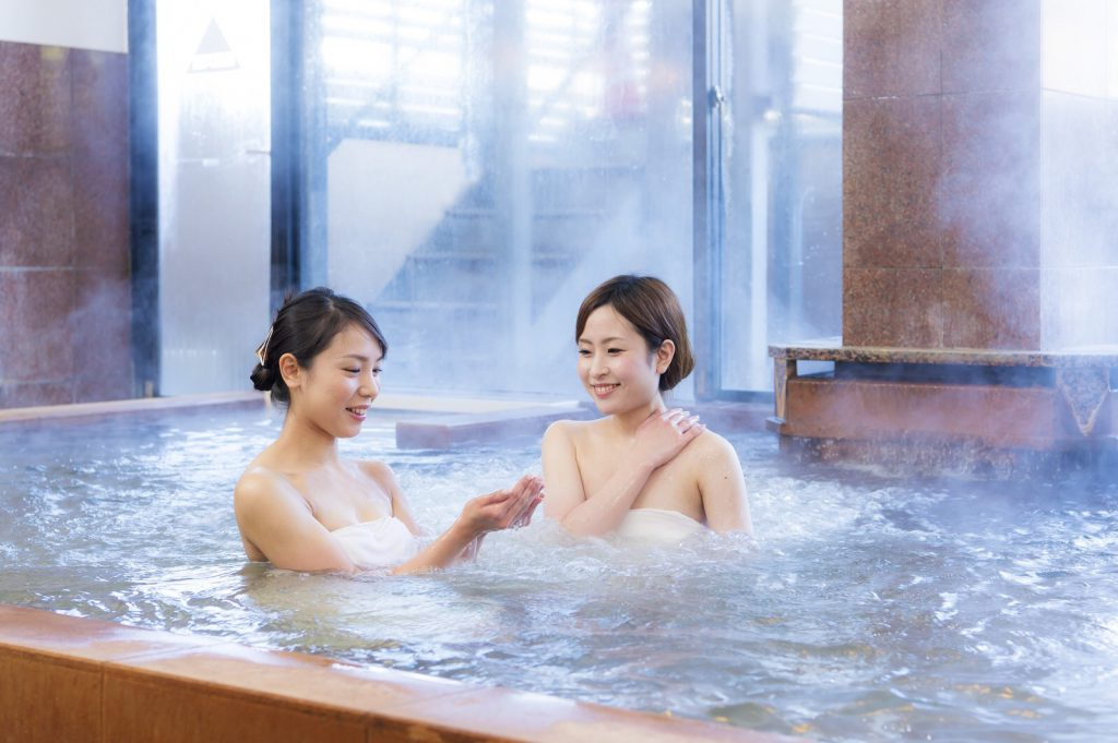 Taking Onsen With Friends