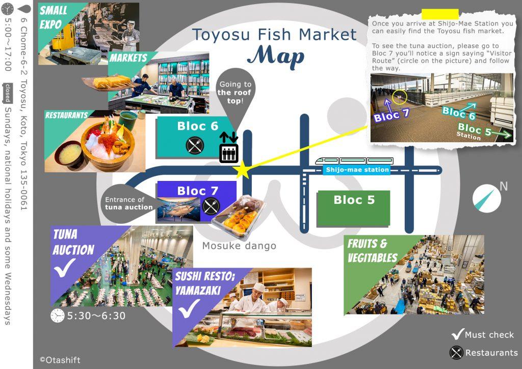 Toyosu Fish Market Otashift Map