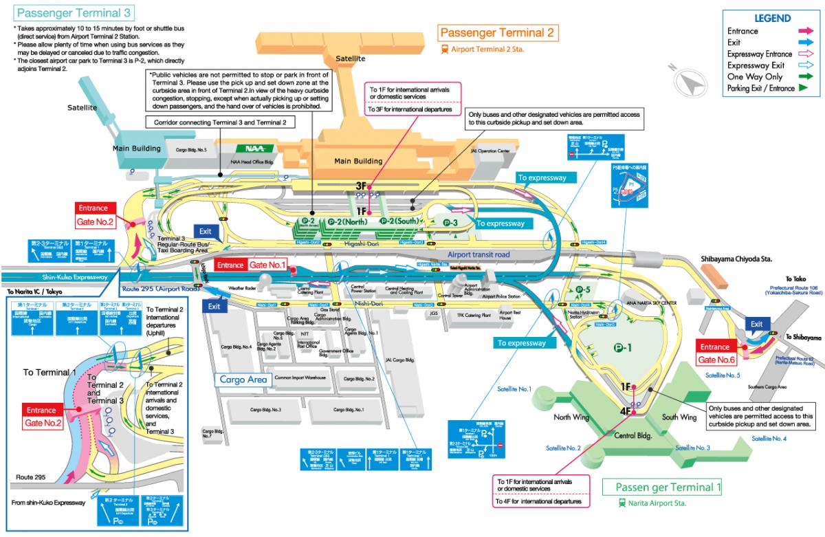 Narita Airport Map