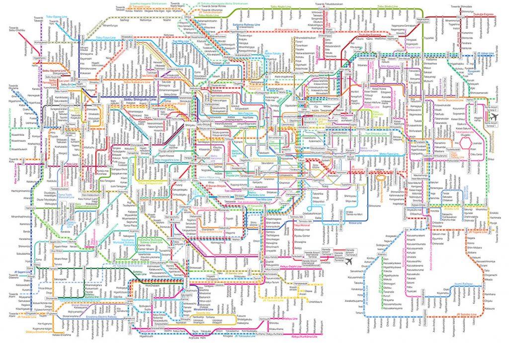 Tokyo Rail Map