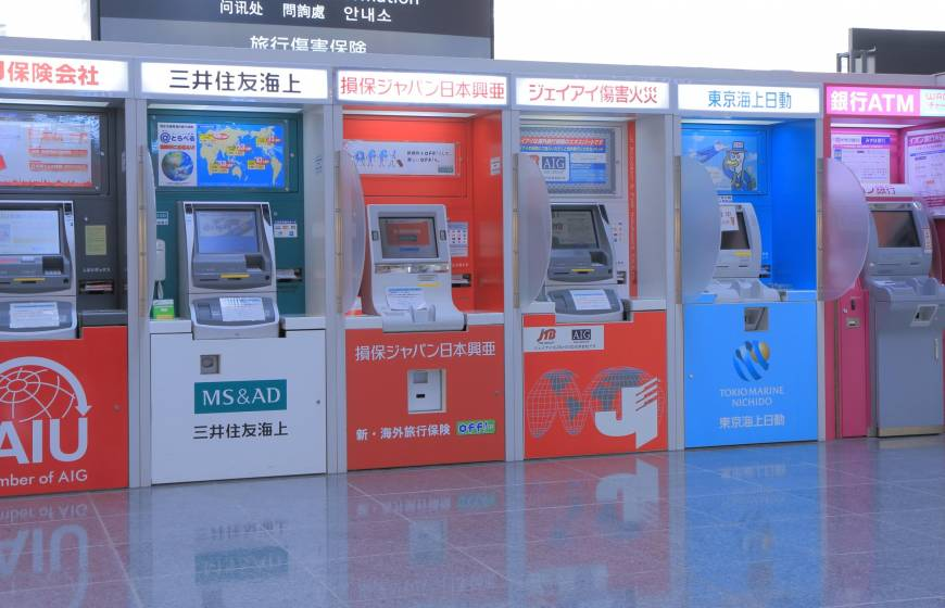 Row of ATMs