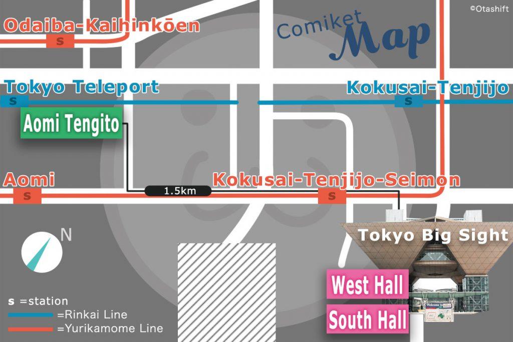 Comiket Access Map