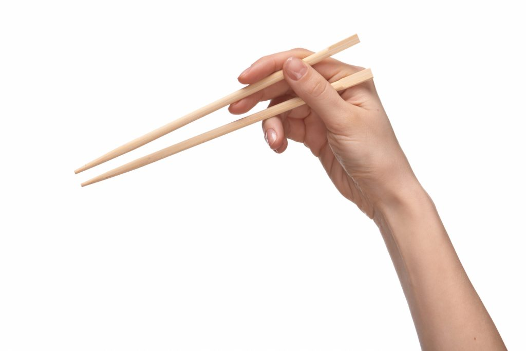 How to hold chopsticks