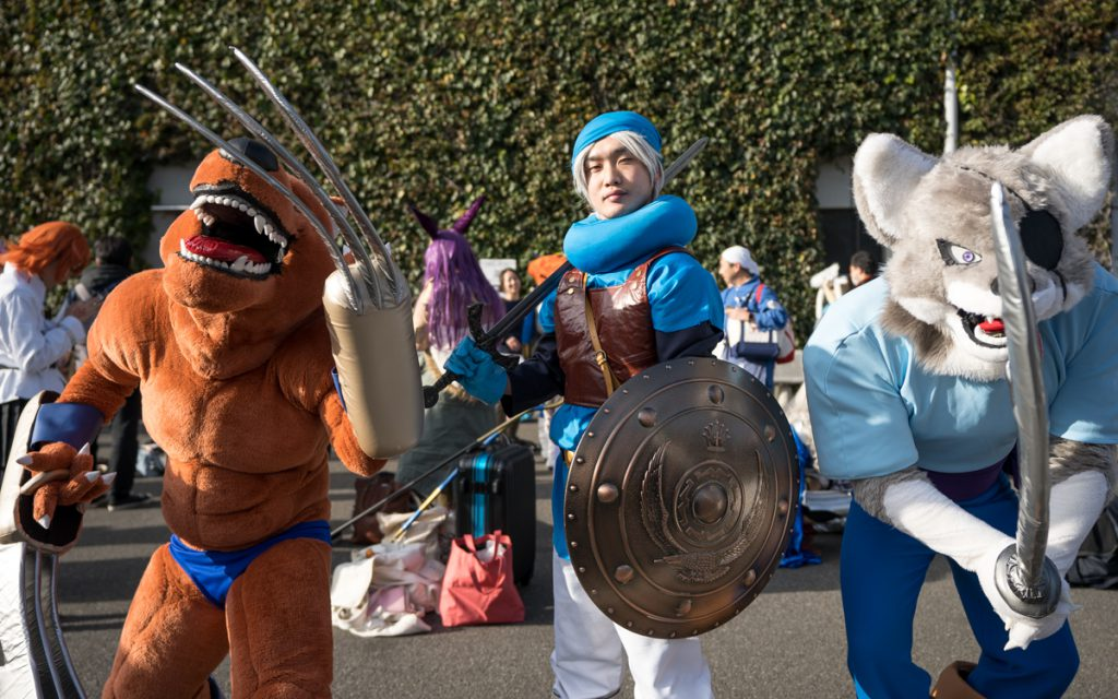 Cosplayer at comiket 95