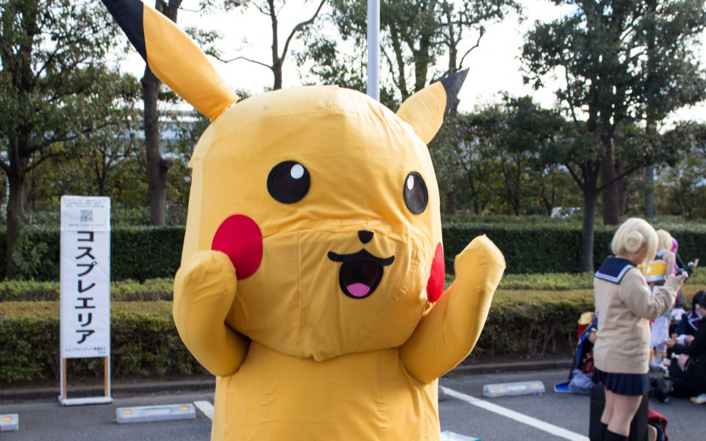 Pikachu Pokemon cosplay at Comiket 95