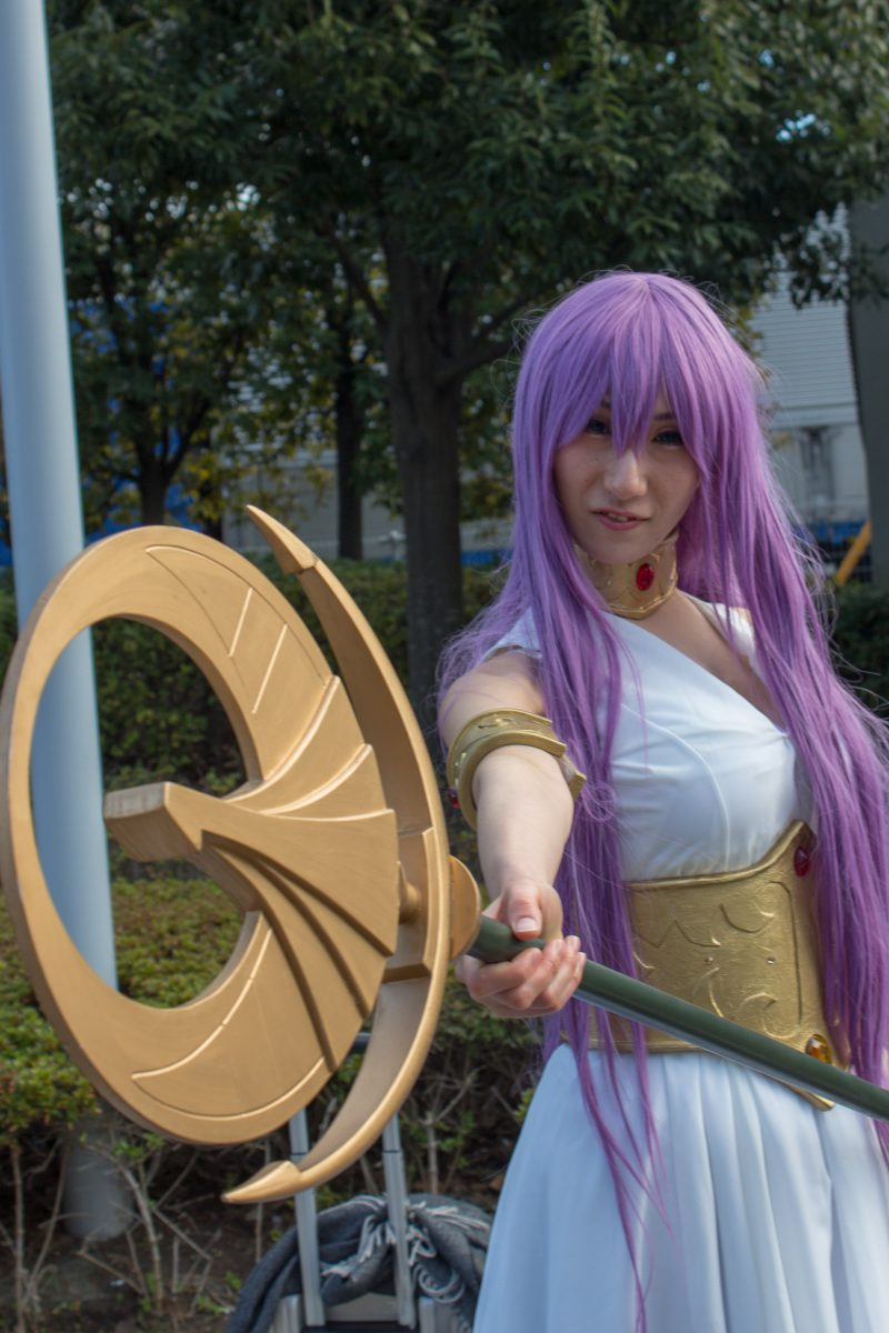 Saint Seiya Princess Atena cosplay at comiket 95