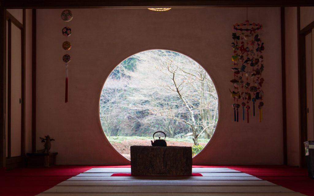 meigetsuin temple tea room