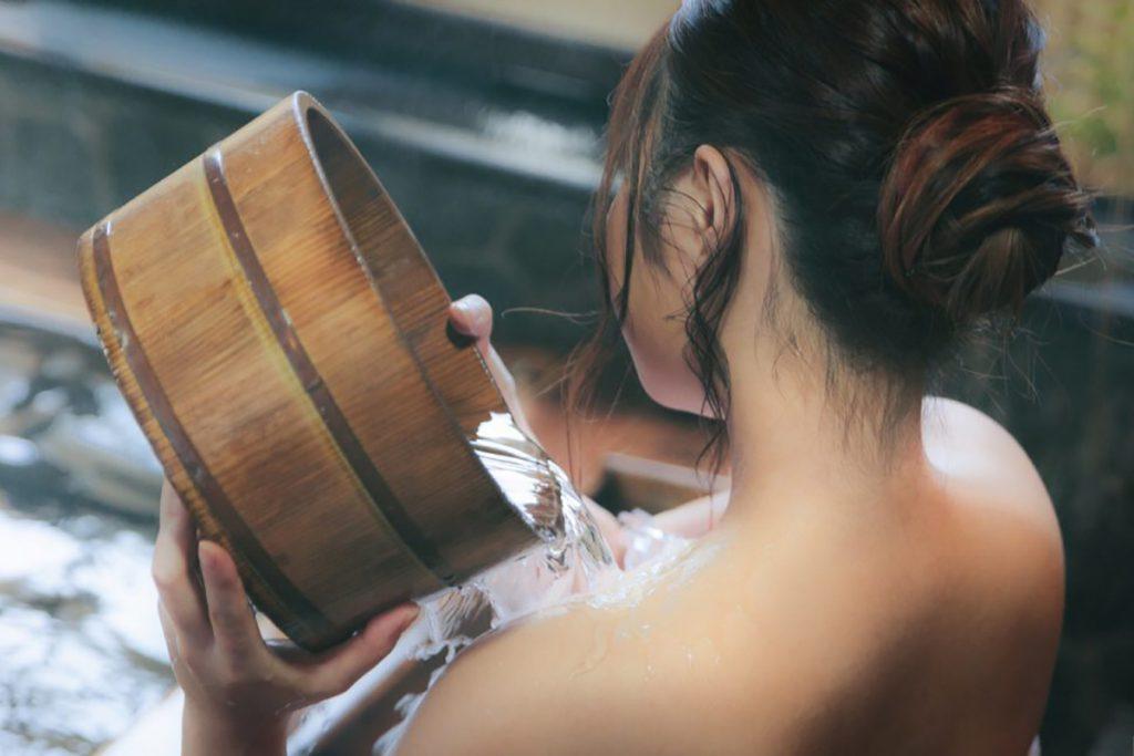 warm onsen water