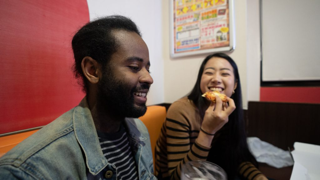 Karaoke room with Marcel and Mona
