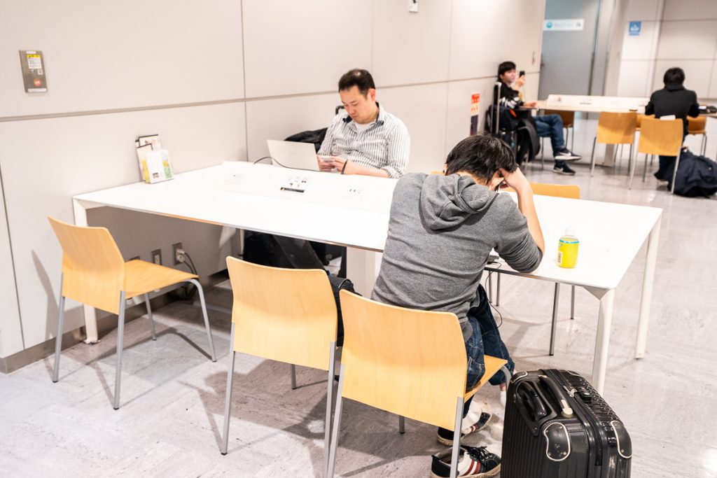 Working space at Narita International Airport
