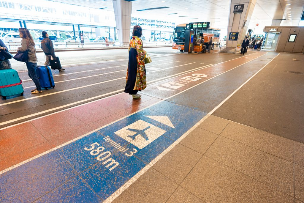 Bus stations at Narita International Airport