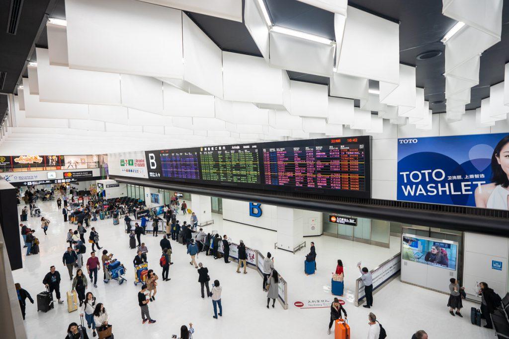 Arrival gate at Narita International Airport