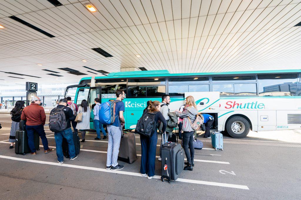 Keisei shuttle bus from Narita International Airport