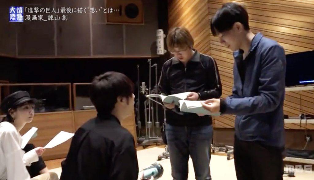 Yuki (Eren), the director and Isayama