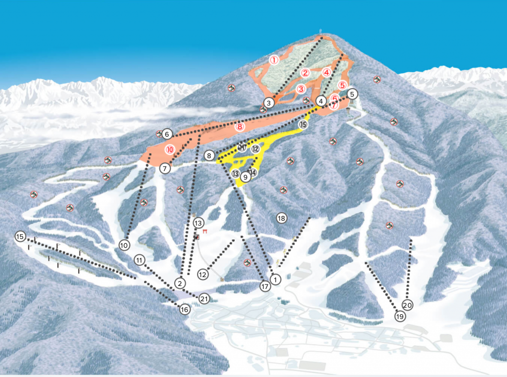 Nozawa onsen ski map