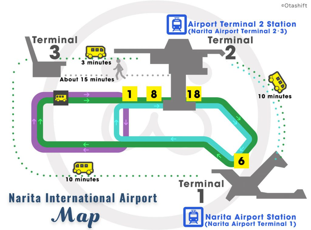 Narita International Airport Map