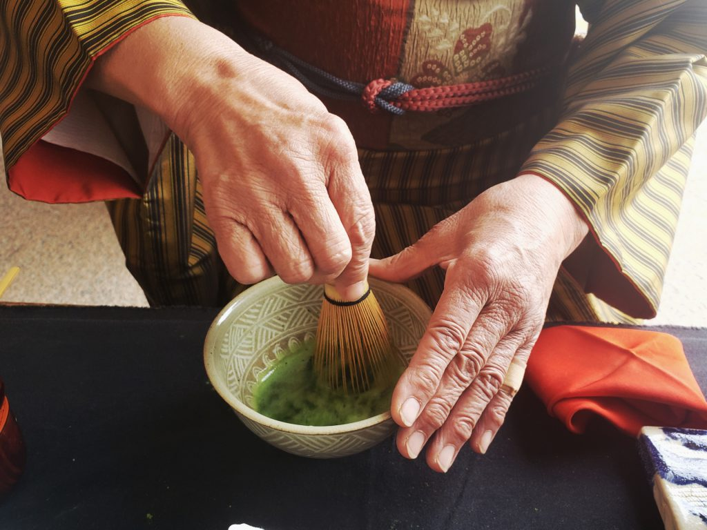 Japanese tea ceremony with kimono