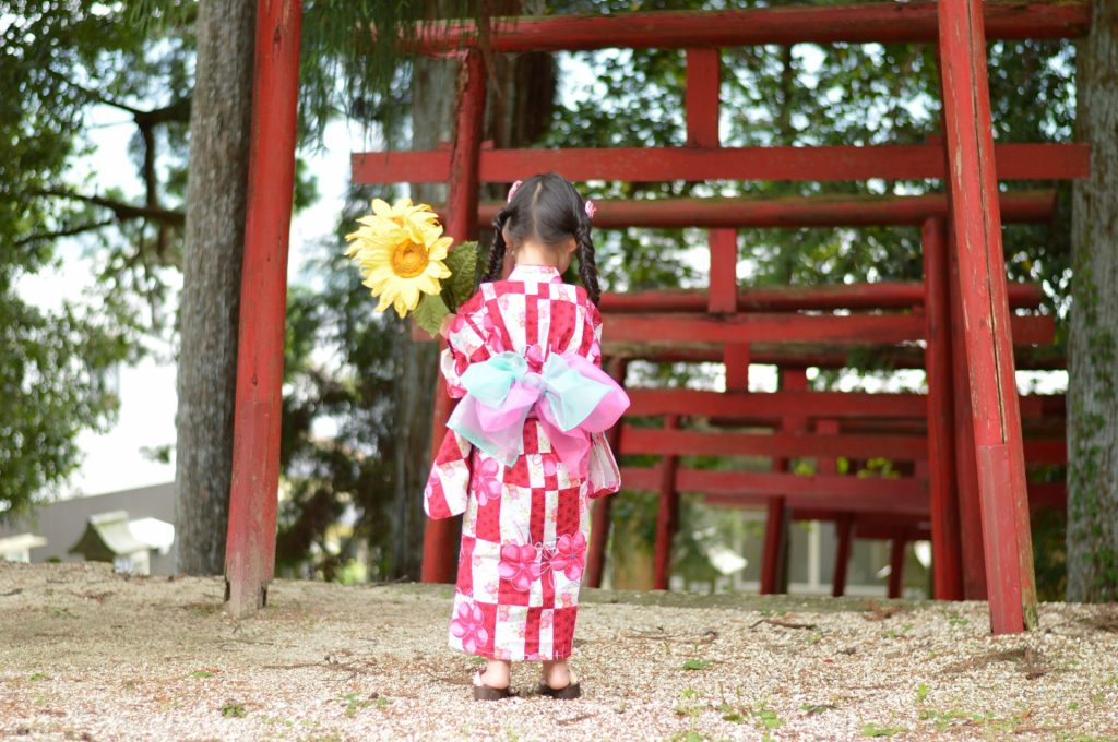 Kid with yukata