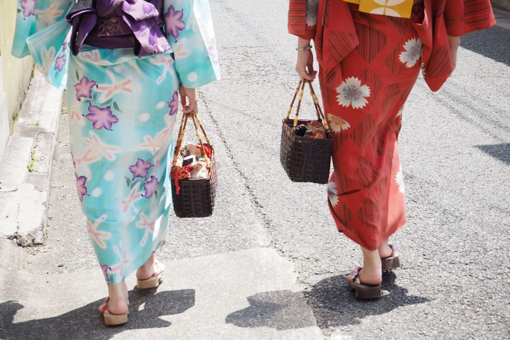 Bag for yukata