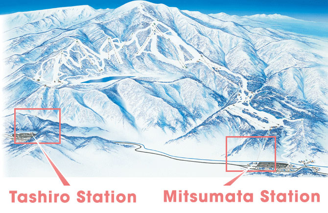 2 base stations at Kagura Ski Resort