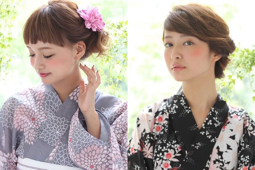 yukata hair style for woman