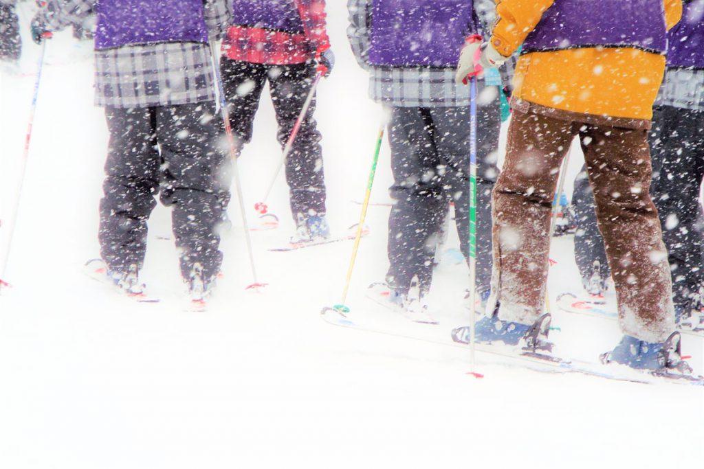Ski lesson for beginner