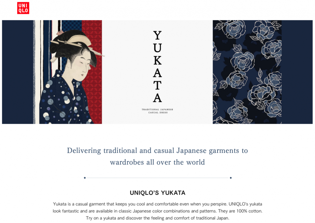Yukata at UNIQLO