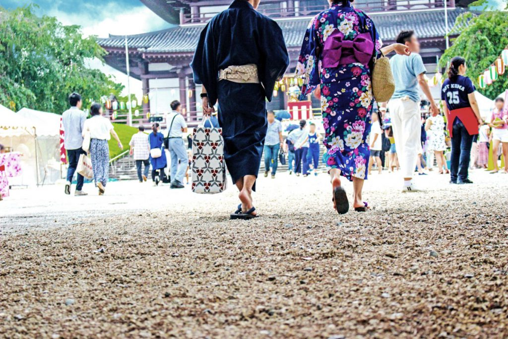 Couple with yukata