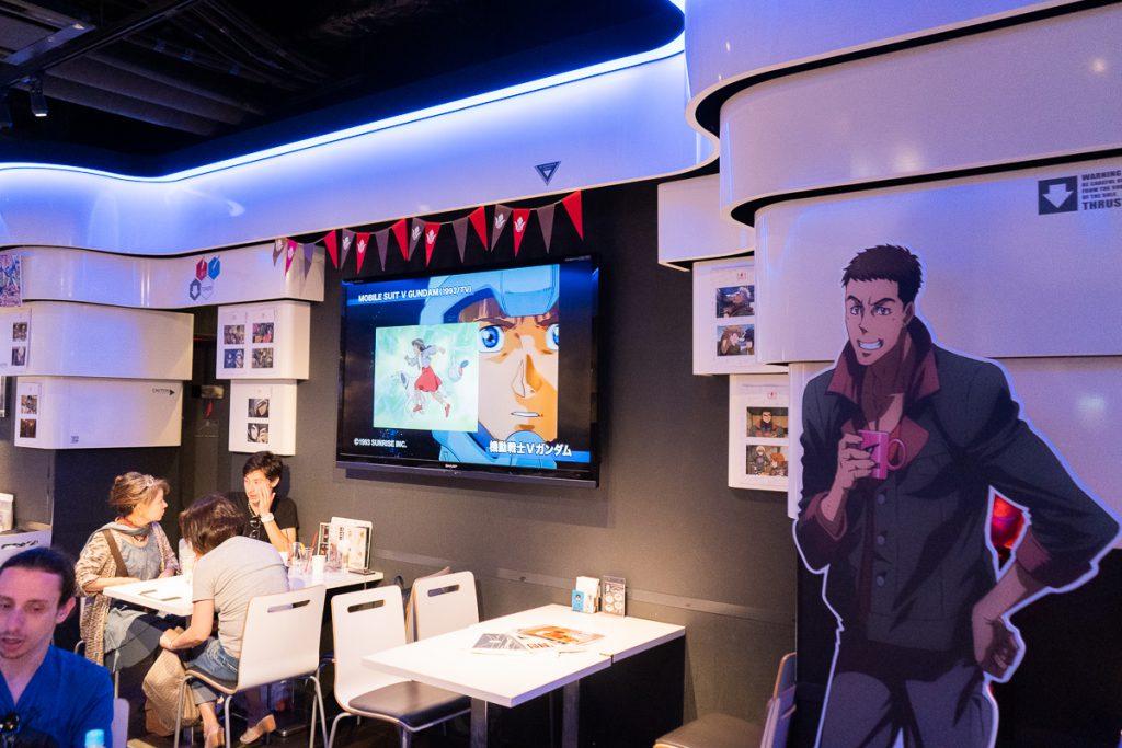 The interior of Gundam Cafe