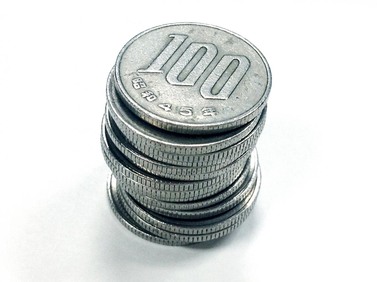 100 yen coins