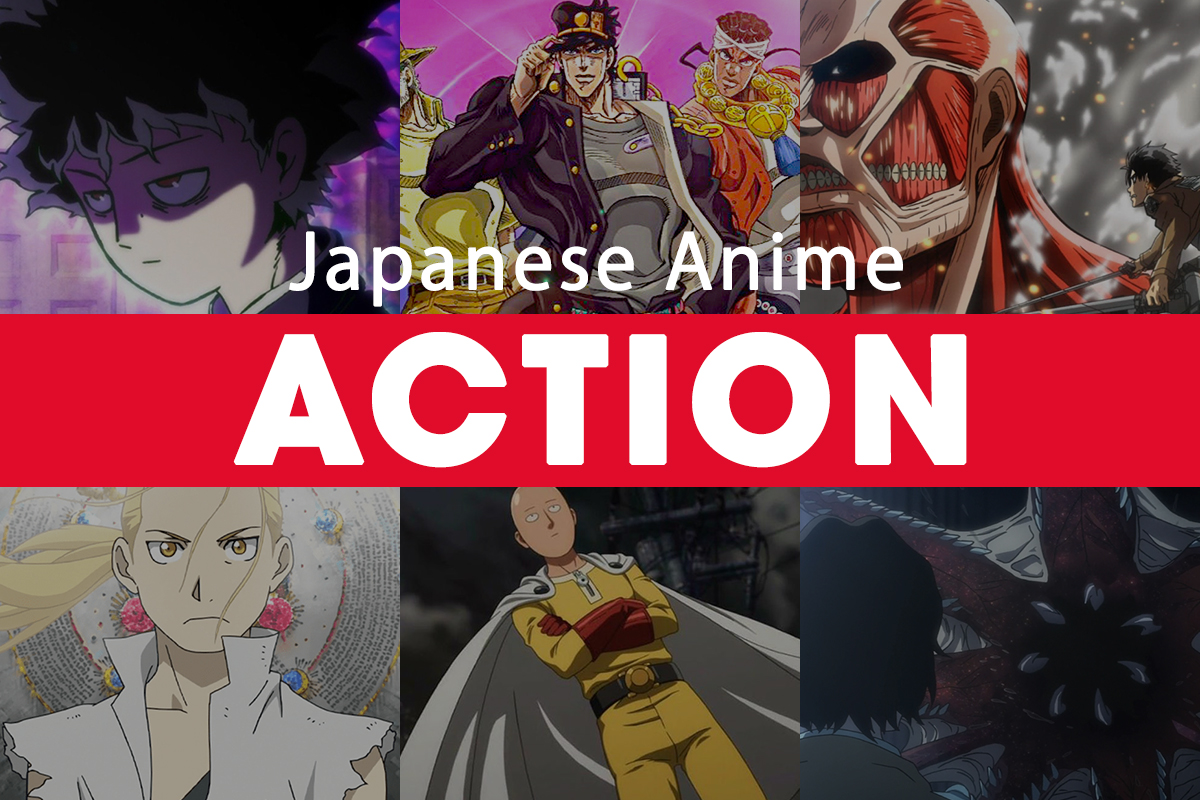 Japanese action anime