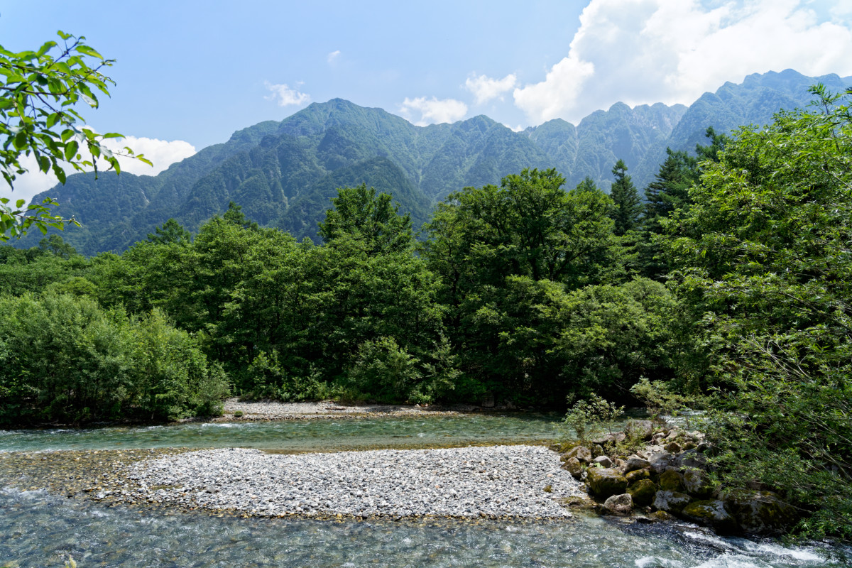 Azusa River, near the Tashiro bridge