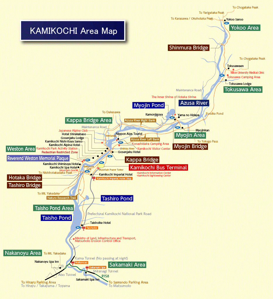 Kamikochi Area Map