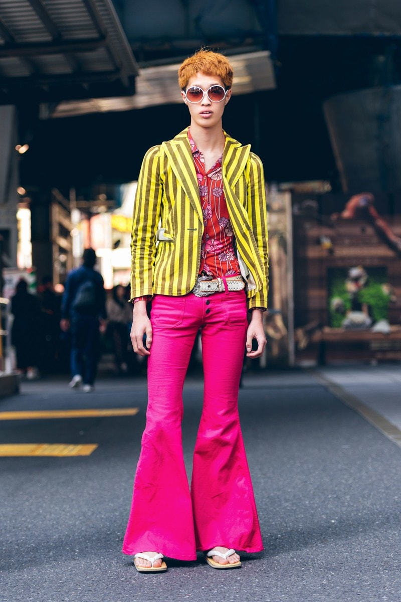 japanese street fashion bell bottom pants