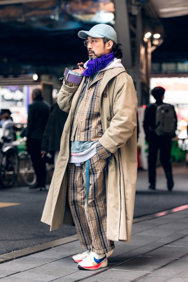 Japan street fashion dull colored long coats