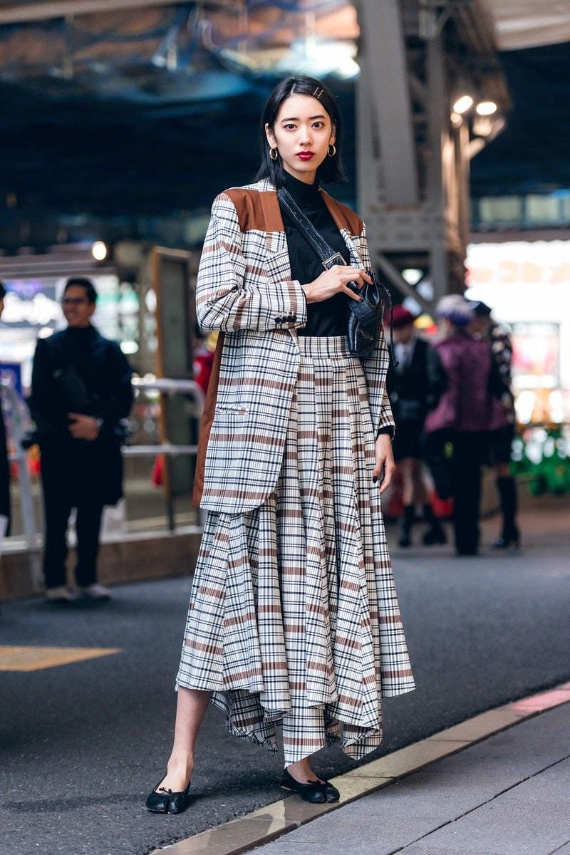 Japanese street fashion plaids