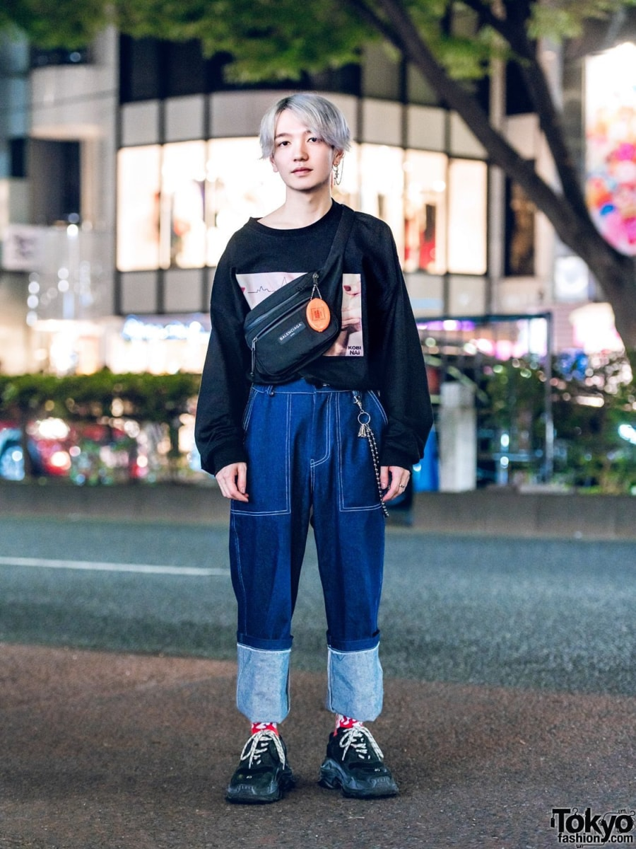 Japanese street fashion ugly sneakers