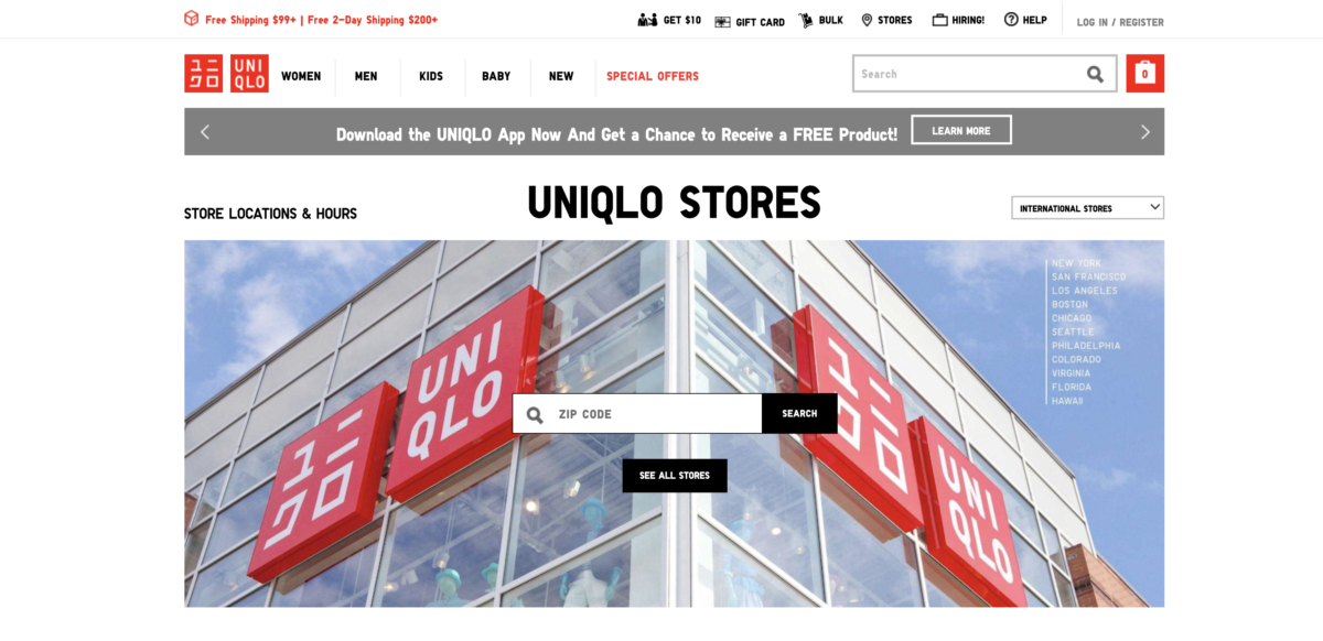 Uniqlo near me