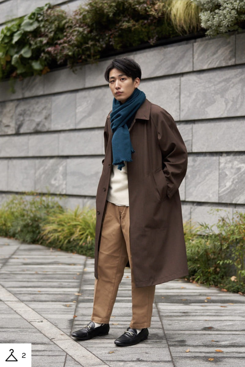 Blocktech oversized coat Uniqlo