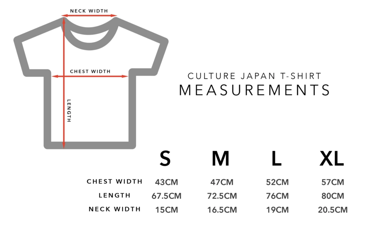 Japanese measurement charts