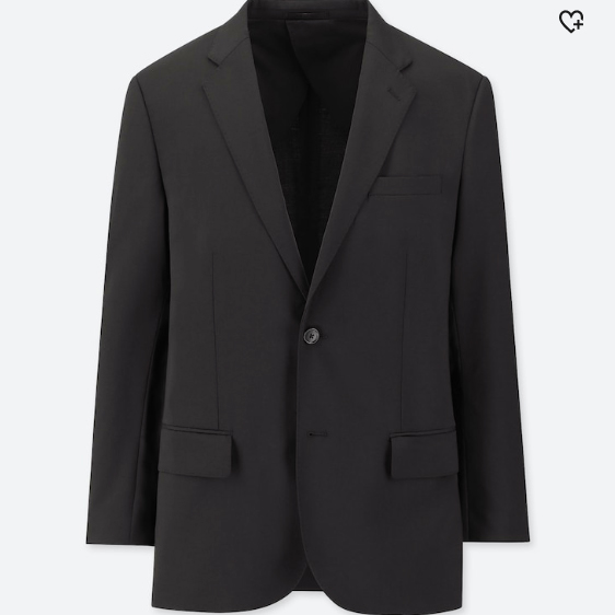Men Custom Strech Wool Jacket Uniqlo